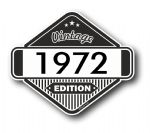 VIntage Edition 1972 Classic Retro Cafe Racer Design External Vinyl Car Motorcyle Sticker 85x70mm
